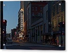 Colorful Night On Gay Street Acrylic Print