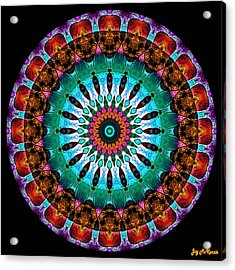 Colorful No. 9 Mandala Acrylic Print by Joy McKenzie