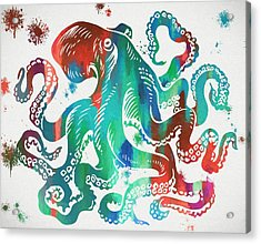 Colorful Octopus  Acrylic Print by Dan Sproul