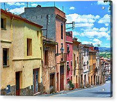 Colorful Old Houses In Tarragona Acrylic Print