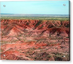 Acrylic Print featuring the photograph Colorful Painted Desert by Jeanette Oberholtzer