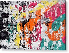 Colorful Painting 1 Acrylic Print by Sumit Mehndiratta