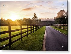 Acrylic Print featuring the photograph Colorful Palette At Sunrise by Shelby Young