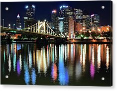 Colorful Pittsburgh Lights Acrylic Print