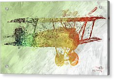Colorful Plane Art Acrylic Print