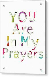 Colorful Prayers- Art By Linda Woods Acrylic Print