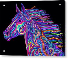 Colorful Rainbow Stallion  Acrylic Print