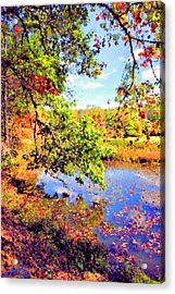 Colorful Reflections Acrylic Print by Kristin Elmquist