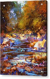Colorful River Acrylic Print