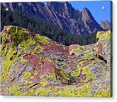 Colorful Rock Mesatrail Acrylic Print