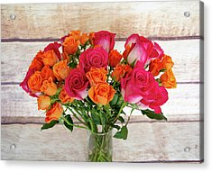 Colorful Rose Bouquet Acrylic Print