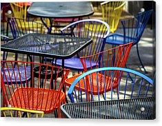 Colorful Seating Acrylic Print by Karol Livote