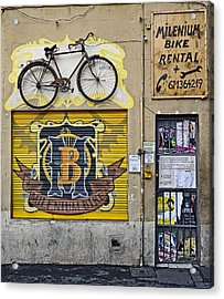 Colorful Signage In Palma Majorca Spain Acrylic Print by Richard Rosenshein