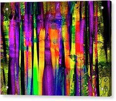 Colorful Silk Acrylic Print