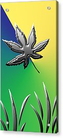 Colorful Silverleaf Abstract Acrylic Print