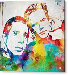 Colorful Simon And Garfunkel Acrylic Print