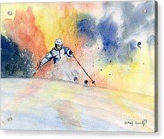 Colorful Skiing Art 2 Acrylic Print