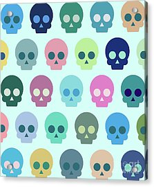 Colorful Skull Cute Pattern Acrylic Print