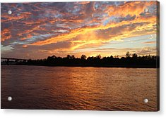 Acrylic Print featuring the photograph Colorful Sky At Sunset by Cynthia Guinn