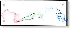 Colorful Smoke II - Rgb Triptych Acrylic Print by Scott Norris