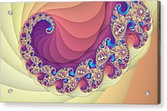 Colorful Spiral Fractal Art Acrylic Print