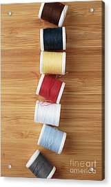 Colorful Spools Of Thread Acrylic Print