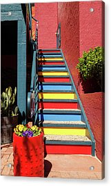 Acrylic Print featuring the photograph Colorful Stairs by James Eddy