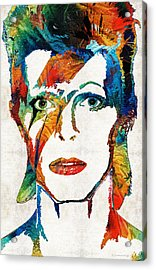 Colorful Star - David Bowie Tribute  Acrylic Print by Sharon Cummings