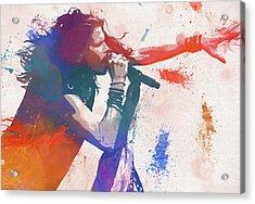Colorful Steven Tyler Paint Splatter Acrylic Print