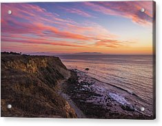 Colorful Sunset At Golden Cove Acrylic Print