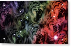 Colorful Swirls Acrylic Print