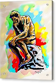 Colorful Thinker Acrylic Print