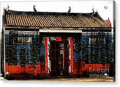 Colorful Times Temple Hall Acrylic Print by Kathy Daxon
