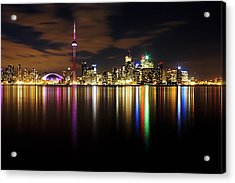 Colorful Toronto Acrylic Print by Matt  Trimble