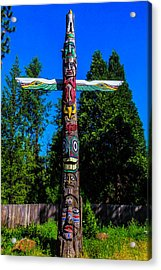 Colorful Totem Pole  Acrylic Print