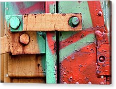 Colorful Train Details Acrylic Print
