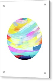 Colorful Uprise 4 Circle- Art By Linda Woods Acrylic Print