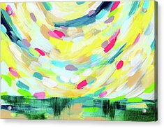 Colorful Uprising 3-  Art By Linda Woods Acrylic Print by Linda Woods