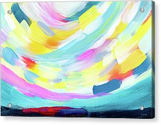 Colorful Uprising 4 - Abstract Art By Linda Woods Acrylic Print by Linda Woods