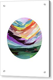 Colorful Uprising 5 Circle- Art By Linda Woods Acrylic Print