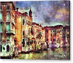 Colorful Venice Canal Acrylic Print