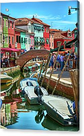 Colorful View In Burano Acrylic Print