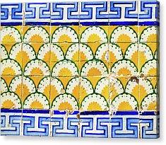 Colorful Vintage Portuguese Tiles Acrylic Print
