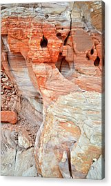 Acrylic Print featuring the photograph Colorful Wall Of Sandstone In Valley Of Fire by Ray Mathis