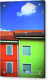 Colorful Walls And A Cloud Acrylic Print by Silvia Ganora
