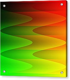 Acrylic Print featuring the digital art Colorful Waves by Kathleen Sartoris