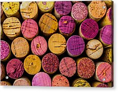Colorful Wine Corks Acrylic Print by Garry Gay