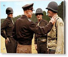 colorization WW2 Eisenhower Acrylic Print by John Wills