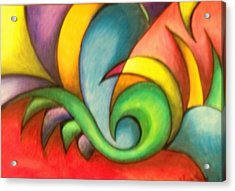 Colors And Curves II Acrylic Print by Karina Repp