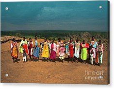 Acrylic Print featuring the photograph Colors And Faces Of The Masai Mara by Karen Lewis